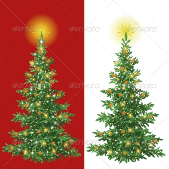 Christmas Tree with Decorations  - Christmas Seasons/Holidays