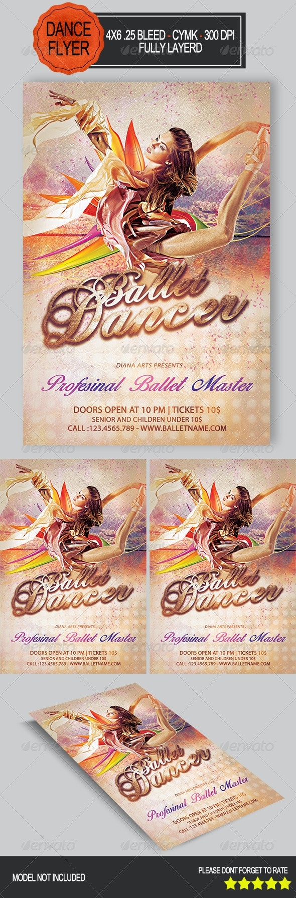 Ballet Dancer Flyer   - Concerts Events