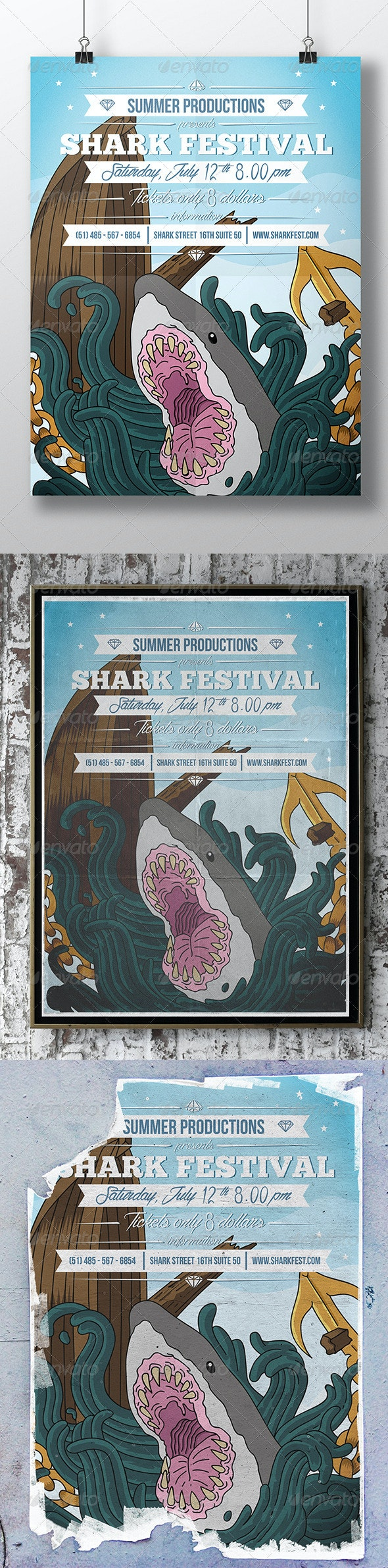 Shark Around Party Flyer - Miscellaneous Events