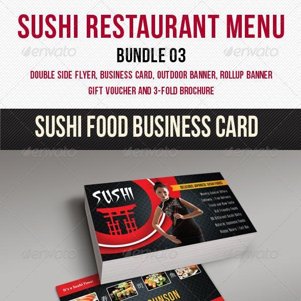 Sushi Restaurant Menu Bundle 03