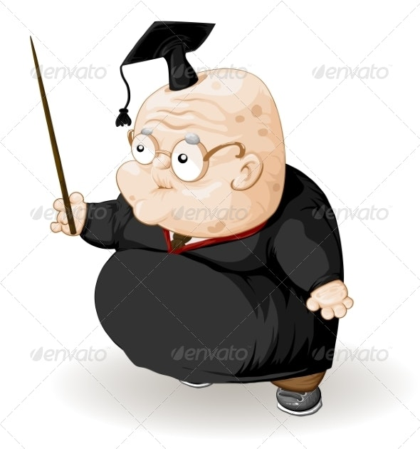 Old Professor with a Pointer - People Characters
