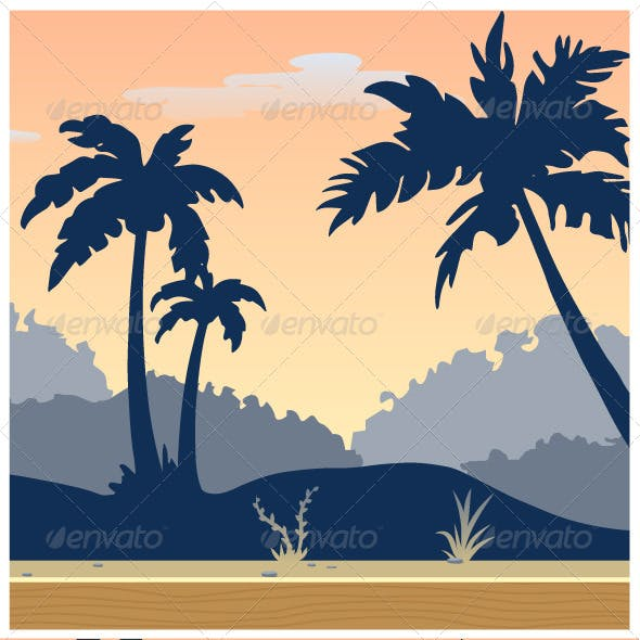 Tileable Tropical Game Background