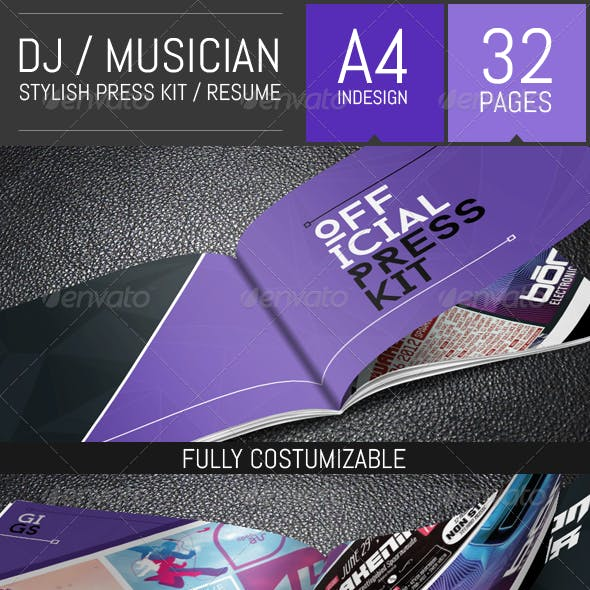 DJ and Musician Press Kit / Resume Template
