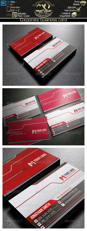 Corporate Business Card 39 - Corporate Business Cards