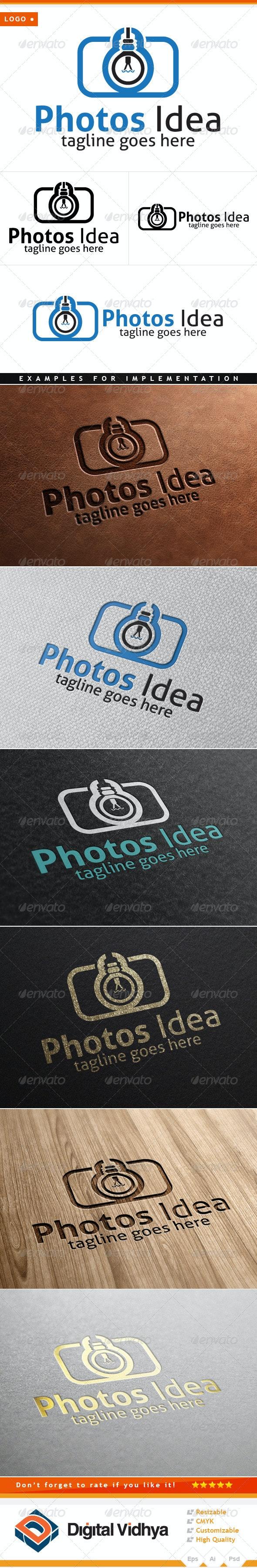 Camera & Bulb Logo - Symbols Logo Templates