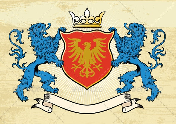 Lion Crest - Decorative Symbols Decorative