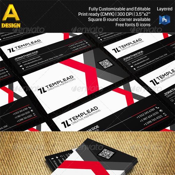 Modern Corporate Business Card AN0457