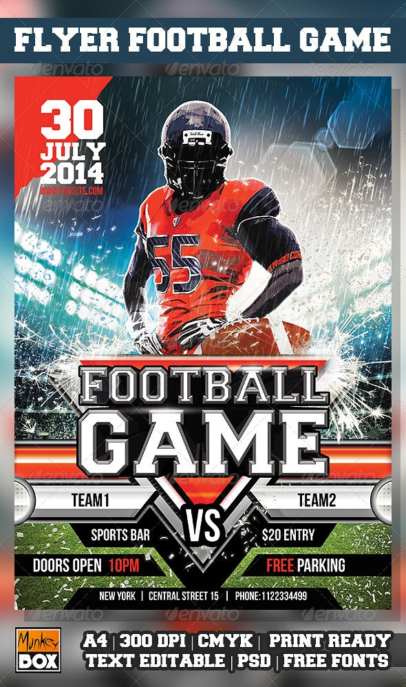 Flyer Super Bowl Konnekt - Flyers Print Templates