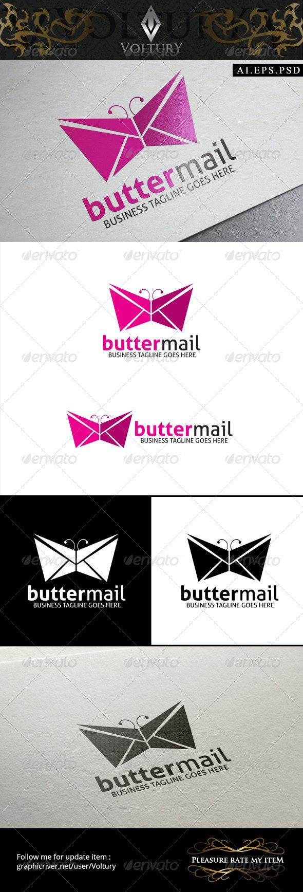 Butter Mail Logo - Animals Logo Templates