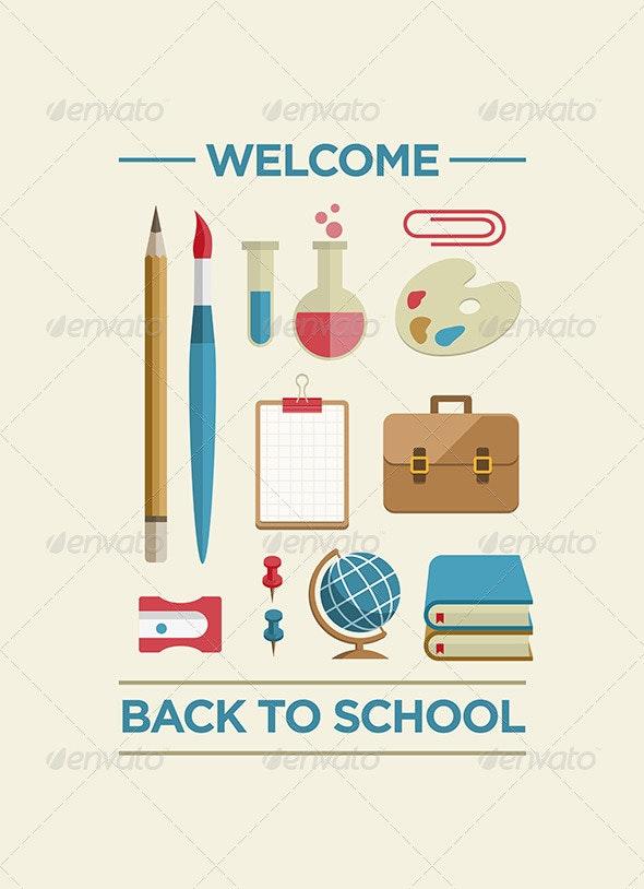 Back to School Poster - Conceptual Vectors