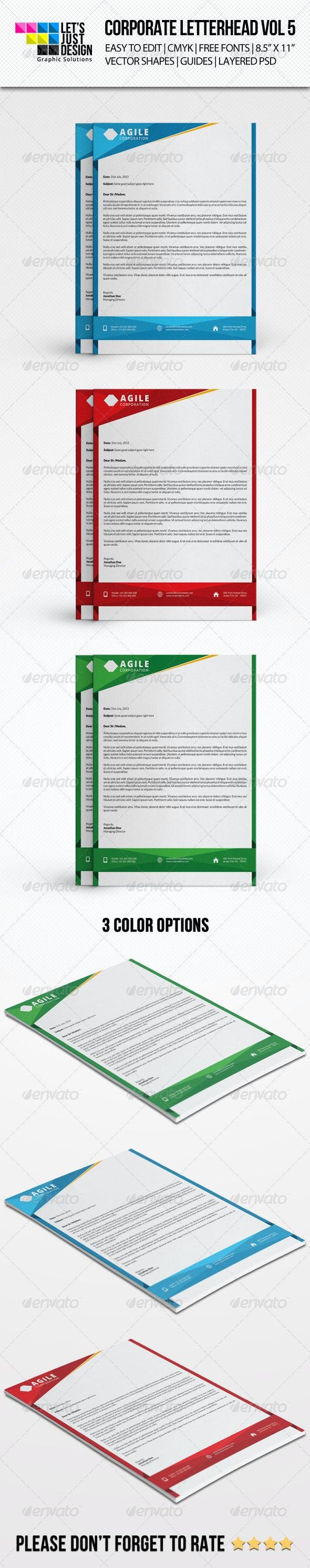 Corporate Letterhead Vol 5 - Stationery Print Templates