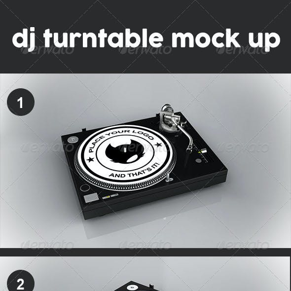 Dj Turntable Mock Up