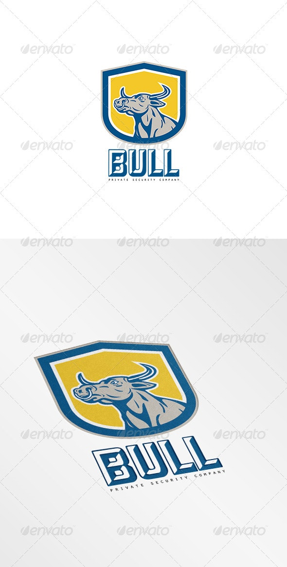 Bull Private Security Company Logo - Animals Logo Templates