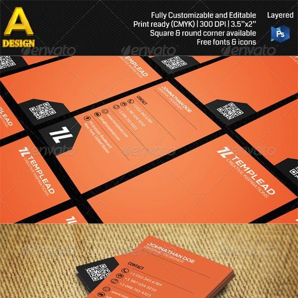 Modern Corporate Business Card AN0458