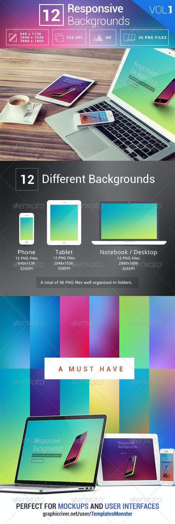 12 Responsive Backgrounds - Abstract Backgrounds