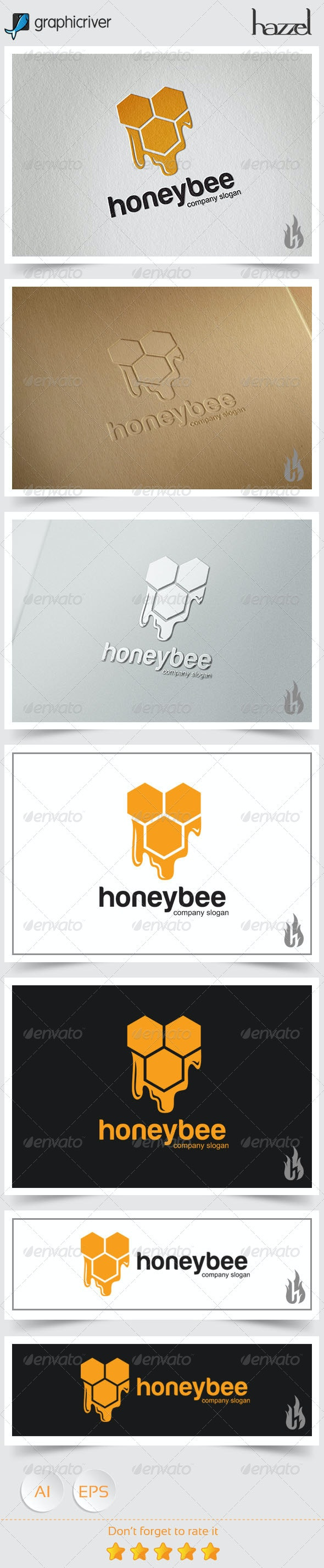 Honey Bee Logo - Abstract Logo Templates