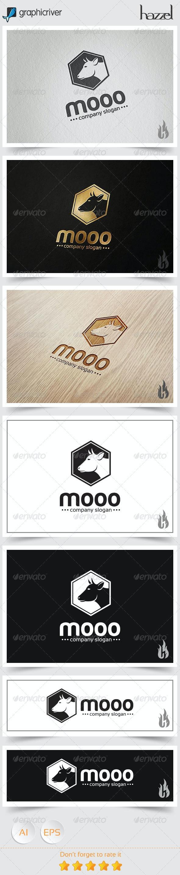 Mooo Logo - Animals Logo Templates