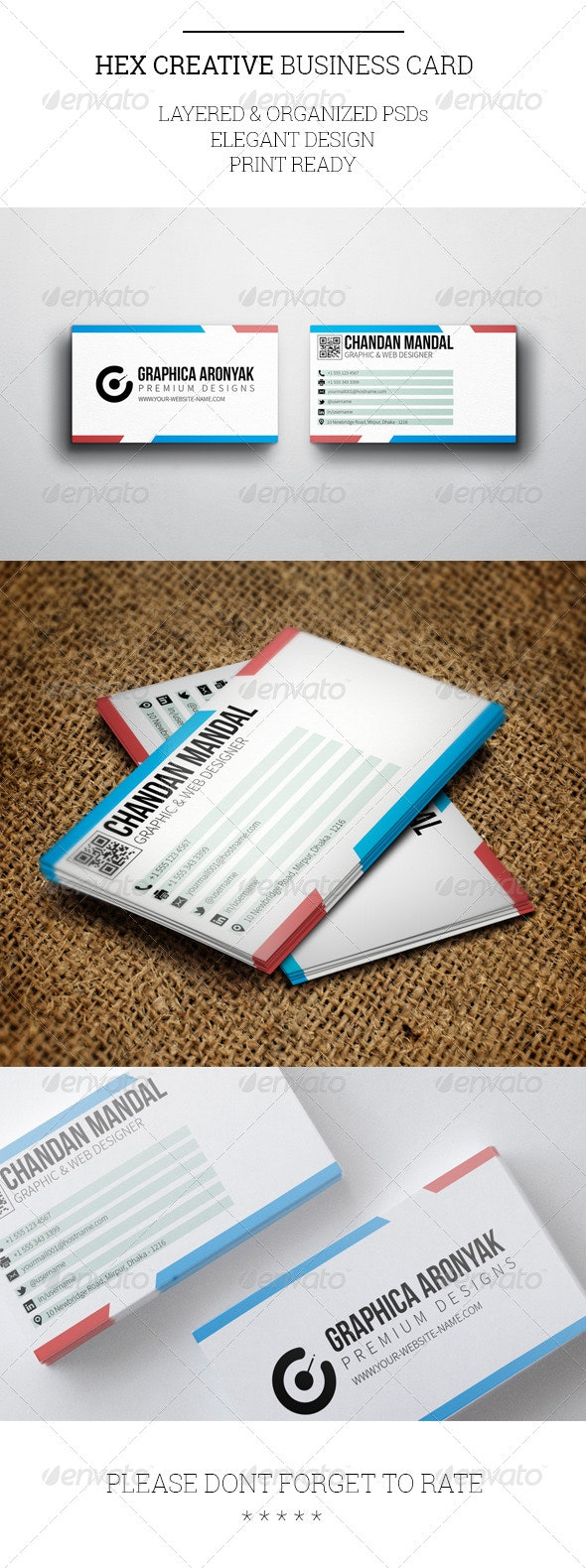 Hex Creative Business Card Template - Creative Business Cards
