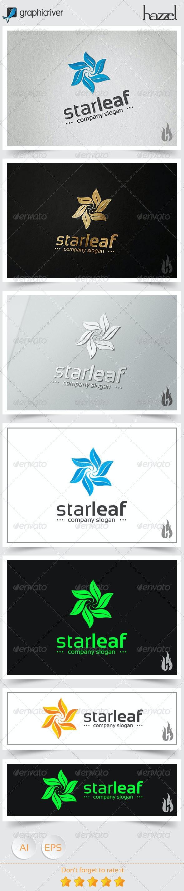 Star Leaf Logo - Nature Logo Templates