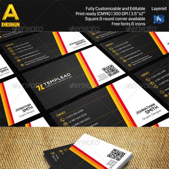 Modern Corporate Business Card AN0459