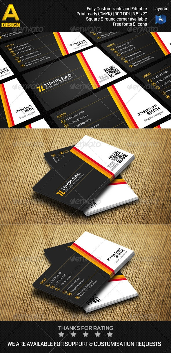 Modern Corporate Business Card AN0459 - Corporate Business Cards