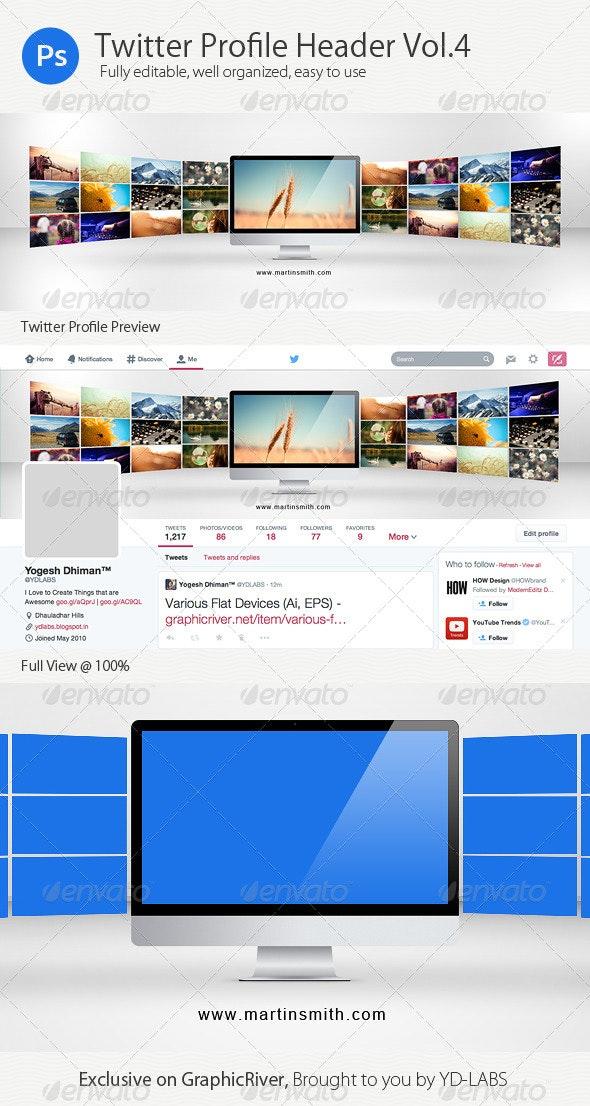 Twitter Profile Header V4 - Twitter Social Media