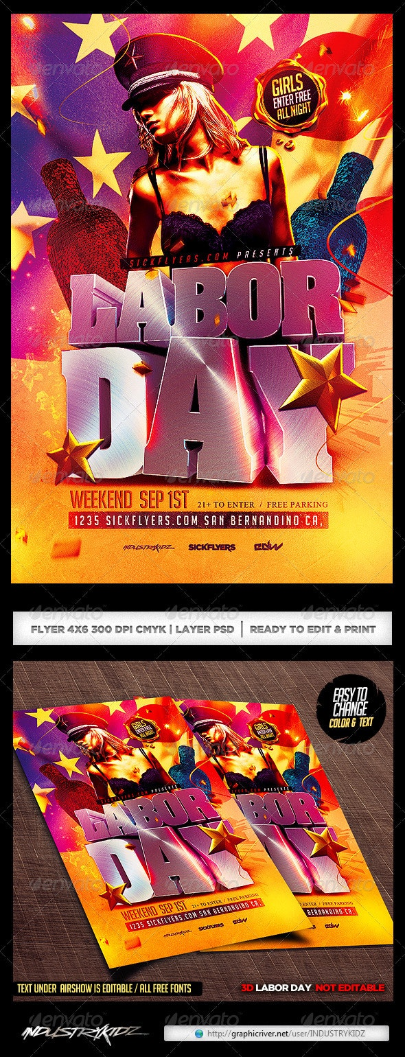 Labor Day Flyer Template  - Holidays Events