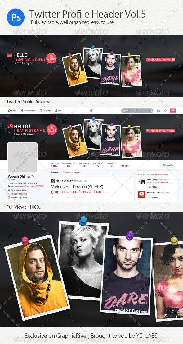 Twitter Profile Header V5 - Twitter Social Media