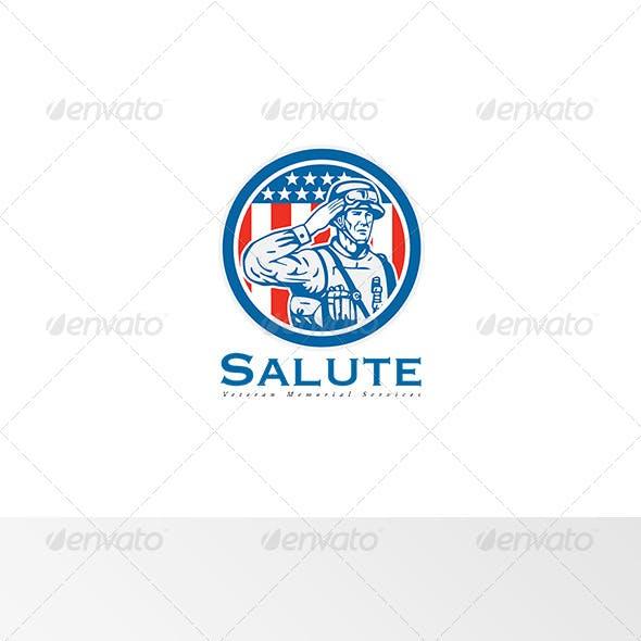 Salute Veteran Memorial Services Logo