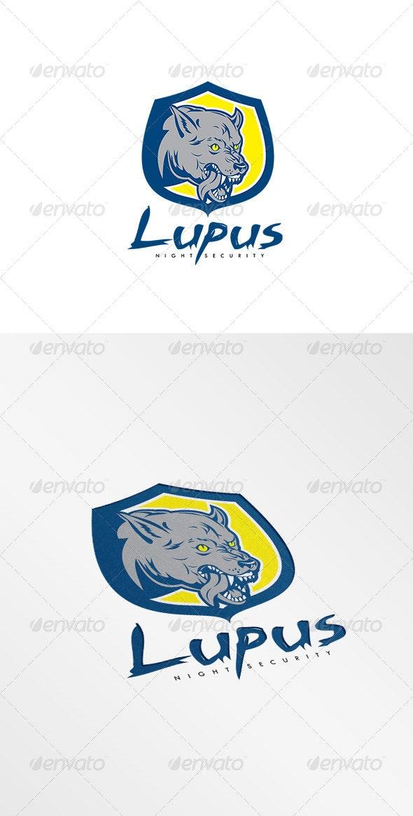 Lupus Night Security Logo - Animals Logo Templates