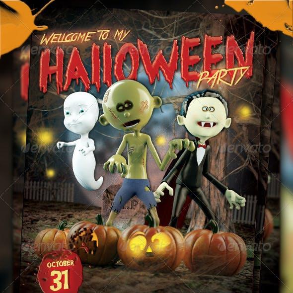 Halloween Kids Party Flyer Vol.2