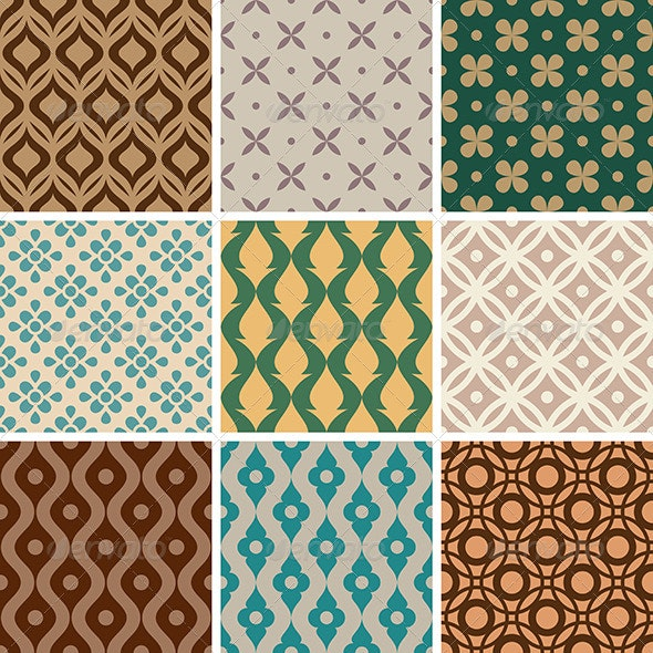 Abstract Vector Seamless Patterns - Patterns Decorative