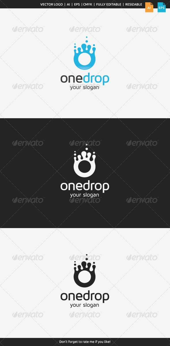 One Drop Logo - Nature Logo Templates