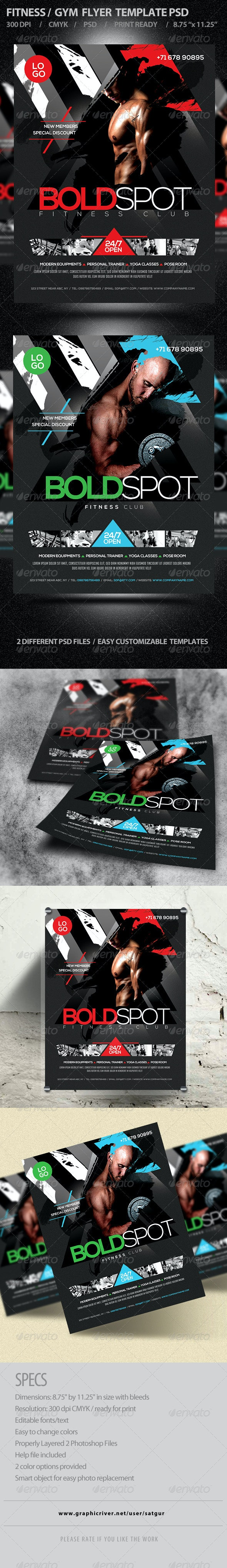 Fitness Flyer /Gym Flyer Template PSD V7 - Corporate Flyers