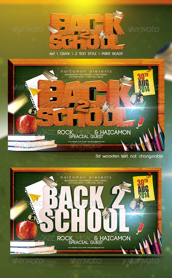 Back 2 School - Events Flyers