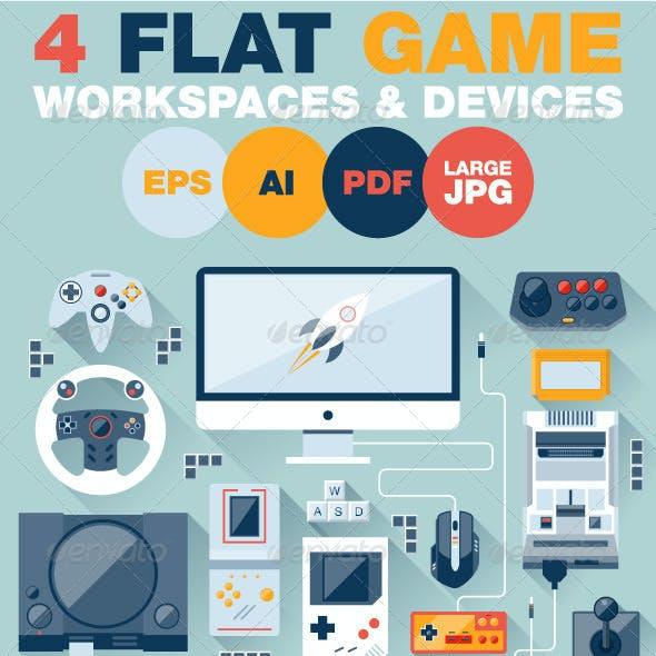 Game Environment Flat Design Concept