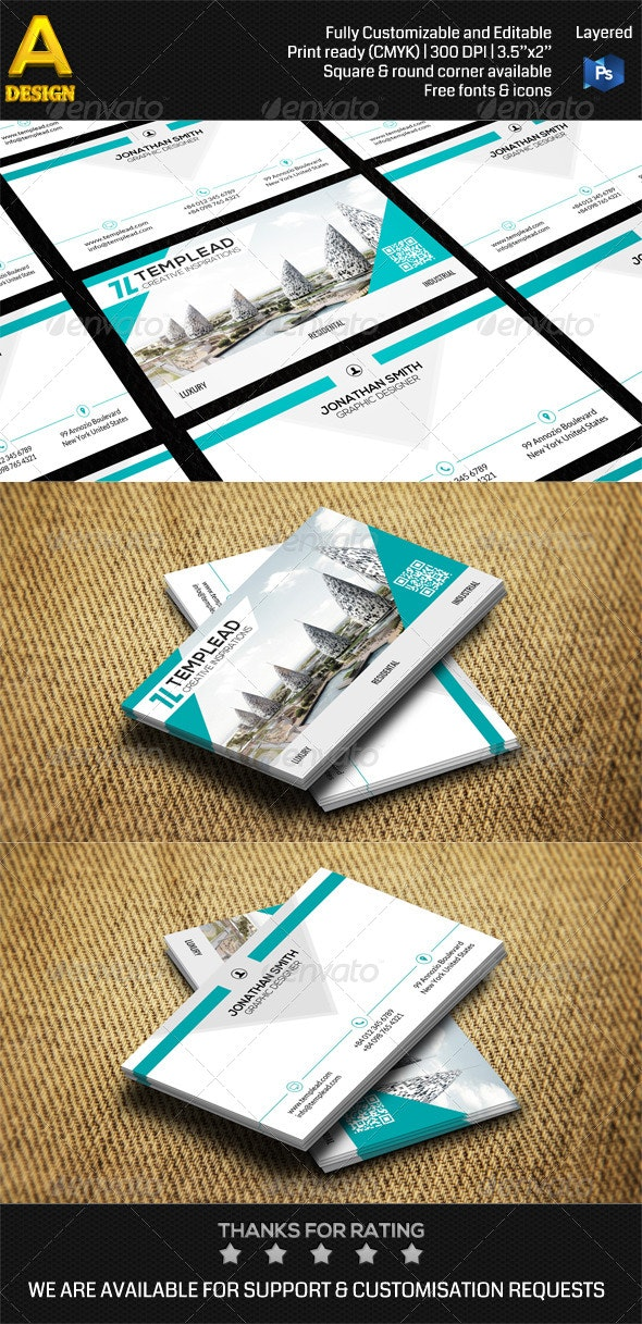 Architecture Corporate Business Card AN0462 - Industry Specific Business Cards