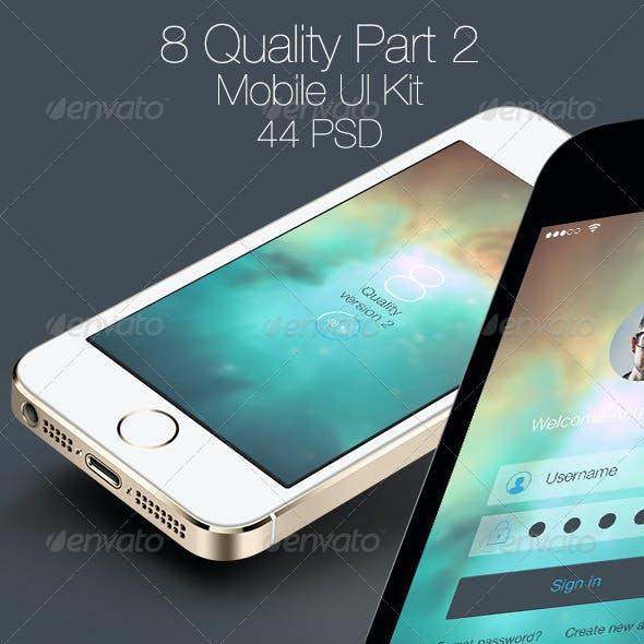 8 Quality Part 2 - Mobile UI Kit