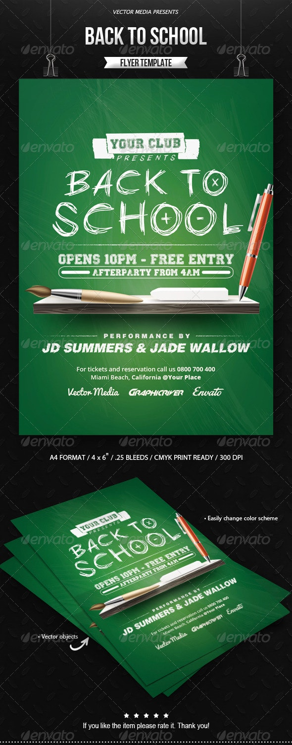 Back to School - Flyer - Clubs & Parties Events