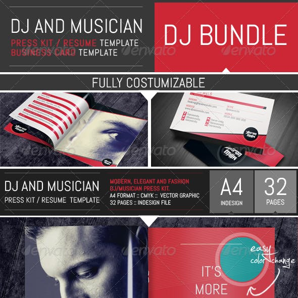 Dj / Musician Bundle - Press Kit