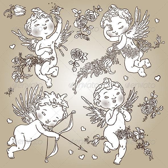 Angels Set - Valentines Seasons/Holidays
