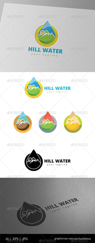 Hill Mountain Fresh Water Logo - Nature Logo Templates
