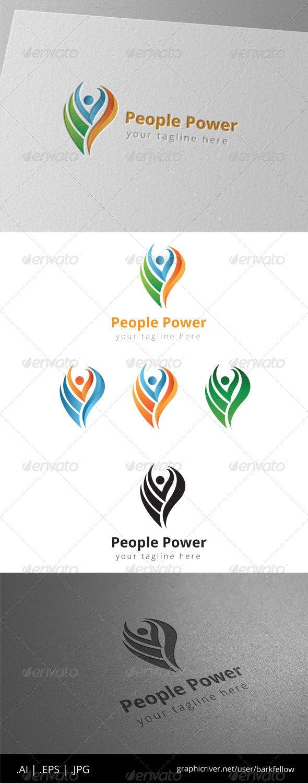 People Rise Fire Logo - Humans Logo Templates