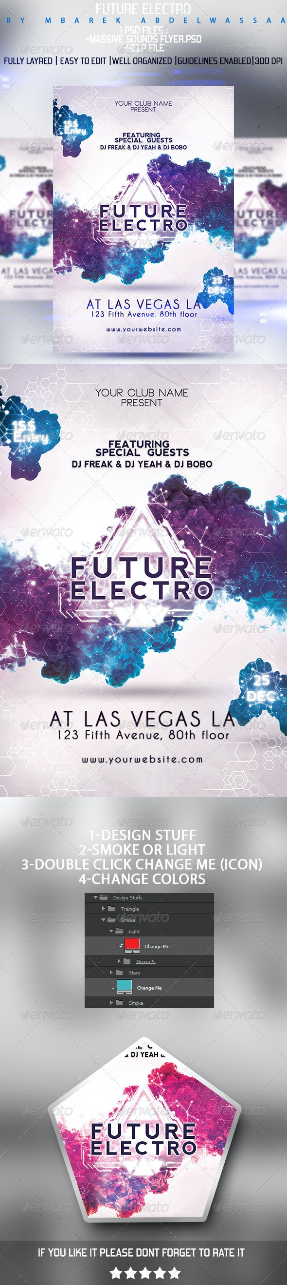 Future Electro Flyer - Events Flyers