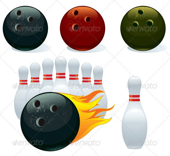Ball and Pin Bowling - Man-made Objects Objects