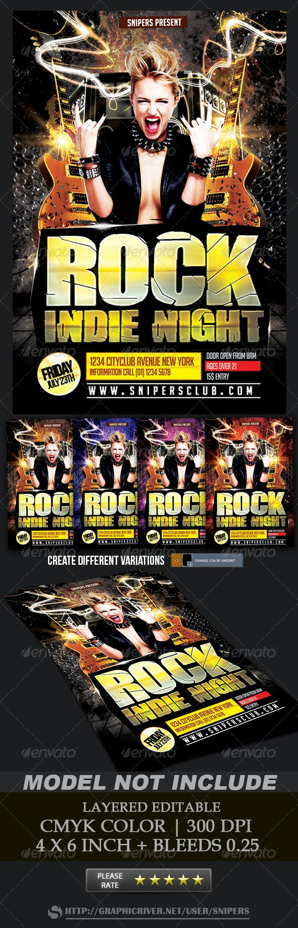 Rock Indie Night - Events Flyers