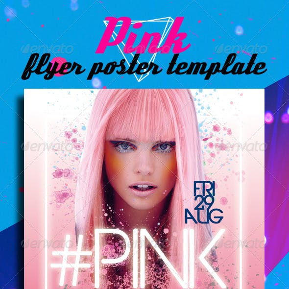 Pink Flyer Poster Template