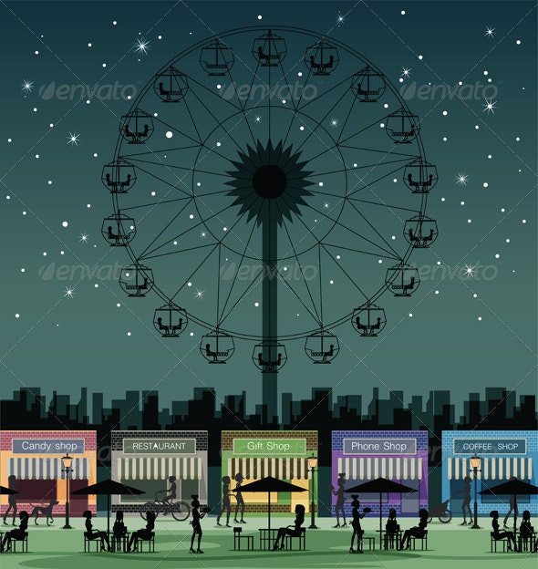 Amusement Park - Objects Vectors