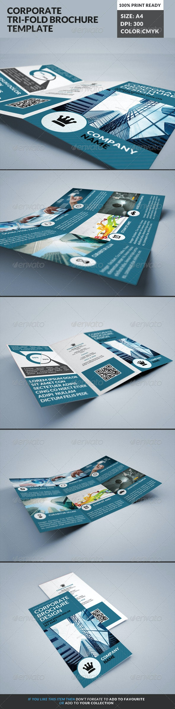 Corporate Tri-Fold Brochures Template 18 - Corporate Brochures