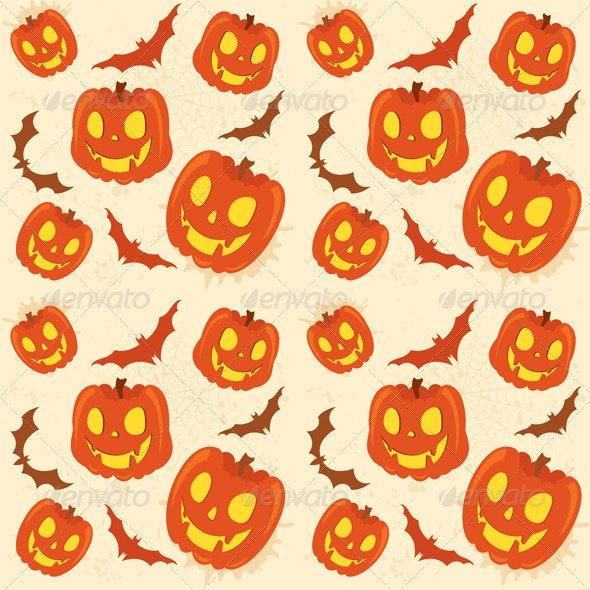 Pumpkin Background - Halloween Seasons/Holidays